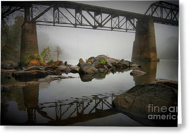 Congaree Trestle Greeting Card by Skip Willits