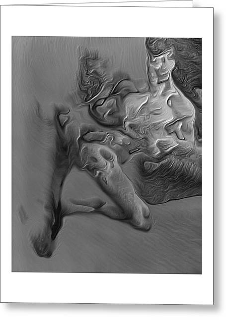 Expressionism Digital Art Greeting Cards - Congenital deformities By Quim Abella Greeting Card by Joaquin Abella