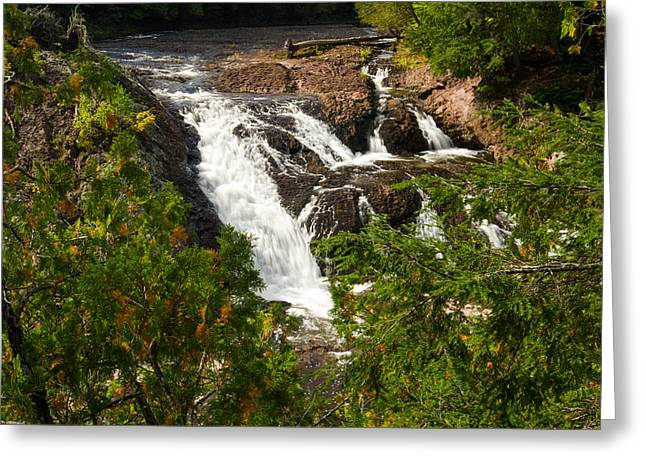Thomas Pettengill Greeting Cards - Conglomerate Falls Greeting Card by Thomas Pettengill