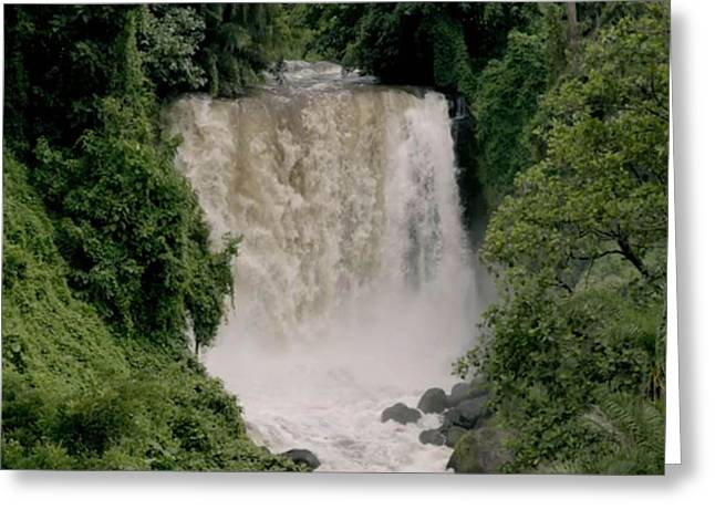 Africa Festival Greeting Cards - Congo River Waterfall Congo is between 4 344-4700 km Greeting Card by Navin Joshi