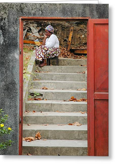 John Kennedy Greeting Cards - Congolese Woman Greeting Card by John Kennedy