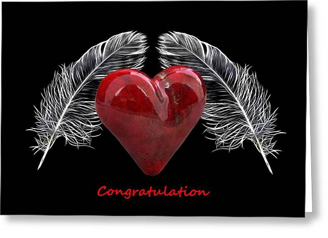 Feather Pen Greeting Cards - Congratulations Greeting Card by Manfred Lutzius