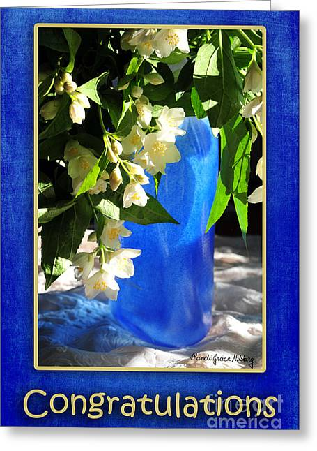 Favorite Color Blue Greeting Cards - Congratulations in Blue Greeting Card by Randi Grace Nilsberg