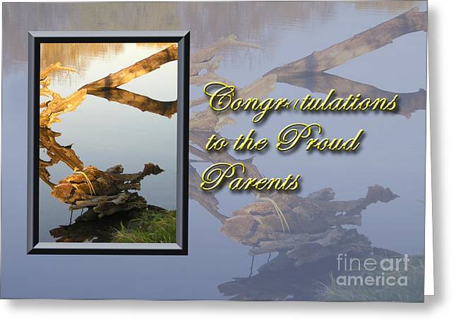 Wildlife Celebration Greeting Cards - Congratulations to the Proud Parents Fish Greeting Card by Jeanette K
