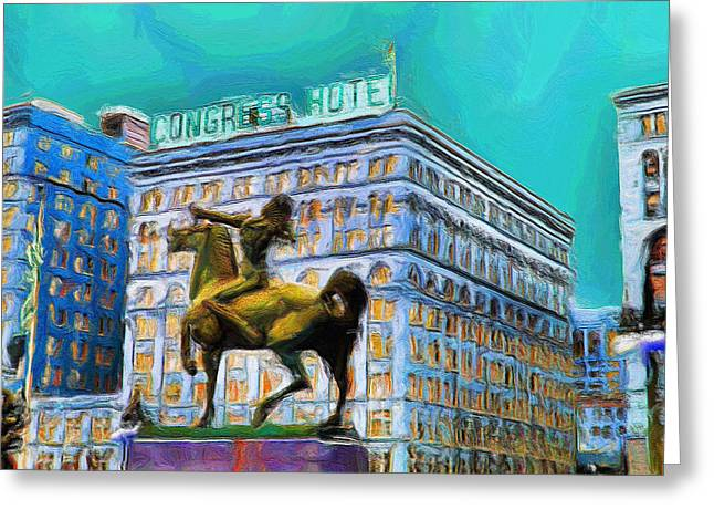 Michigan Ave Greeting Cards - Congress Hotel - 20 Greeting Card by Ely Arsha