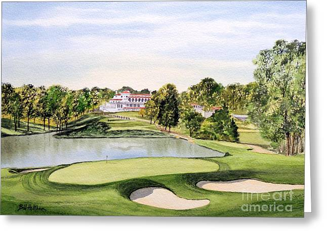 Clubhouse Greeting Cards - Congressional Golf Course 10Th Hole Greeting Card by Bill Holkham