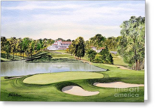 Tiger Woods Greeting Cards - Congressional Golf Course 10Th Hole Greeting Card by Bill Holkham