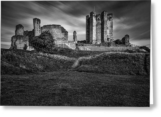 Castle Photographs Greeting Cards - Conisbrough Castle Doncaster Greeting Card by Ian Barber