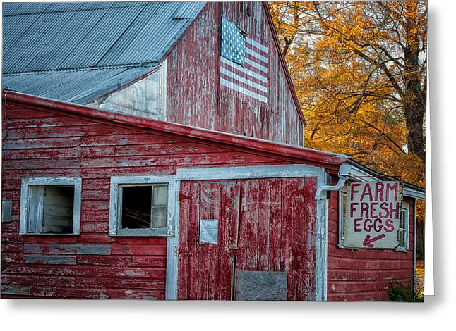 Connecticut Farmstand Greeting Card by Thomas Schoeller