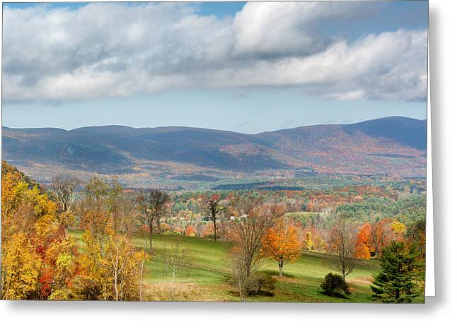 Autumn Landscape Photographs Greeting Cards - Connecticut Scenic Vista Square Greeting Card by Bill  Wakeley