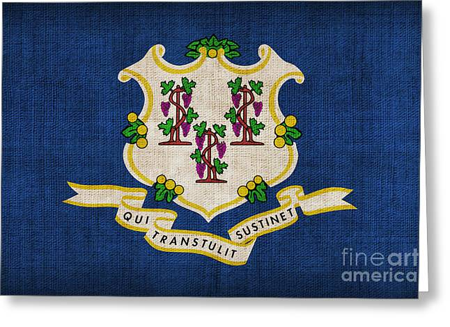Best Sellers Greeting Cards - Connecticut state flag Greeting Card by Pixel Chimp