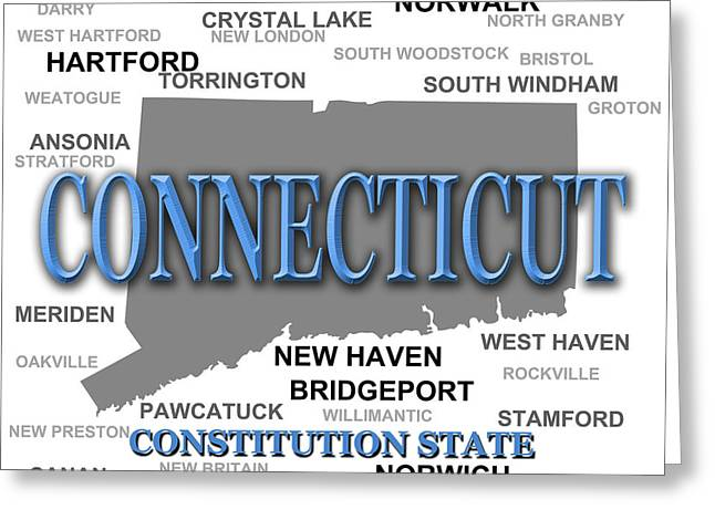 Connecticut Greeting Cards - Connecticut State Pride Map Silhouette  Greeting Card by Keith Webber Jr