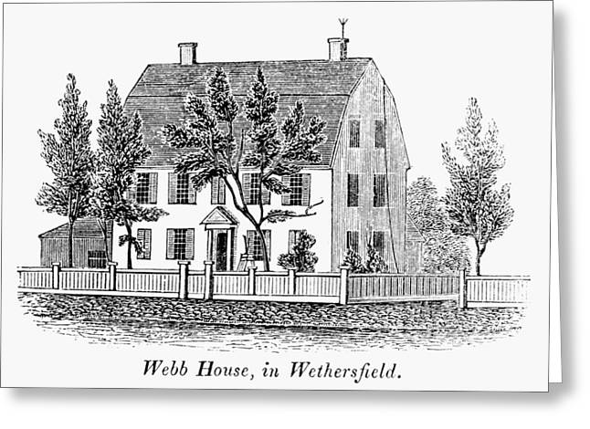 Carousel House Greeting Cards - Connecticut: Webb House Greeting Card by Granger