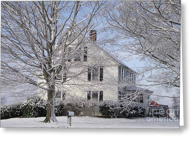 Connecticut Winter Greeting Card by Michelle Welles