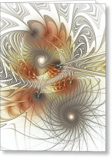 Hypnotizing Greeting Cards - Connection Game Greeting Card by Anastasiya Malakhova