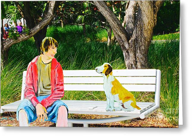 Emotive Greeting Cards - Connectivity Greeting Card by Judy Kay