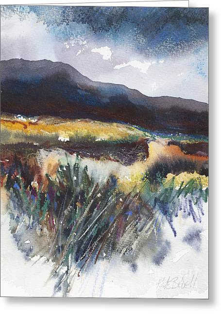 Sand Dunes Paintings Greeting Cards - Connemara Coast I Greeting Card by Kate Bedell