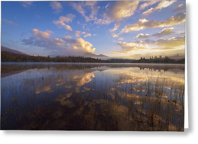 Connery Greeting Cards - Connery Pond Sunrise Greeting Card by Joseph Rossbach