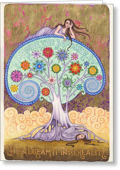Conscious Paintings Greeting Cards - Conscious Dreaming Greeting Card by Tania Crossingham