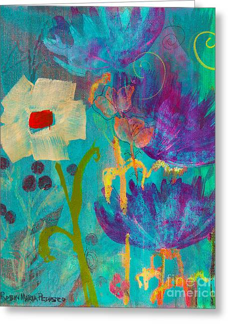 Conscious Living Greeting Card by Robin Maria  Pedrero