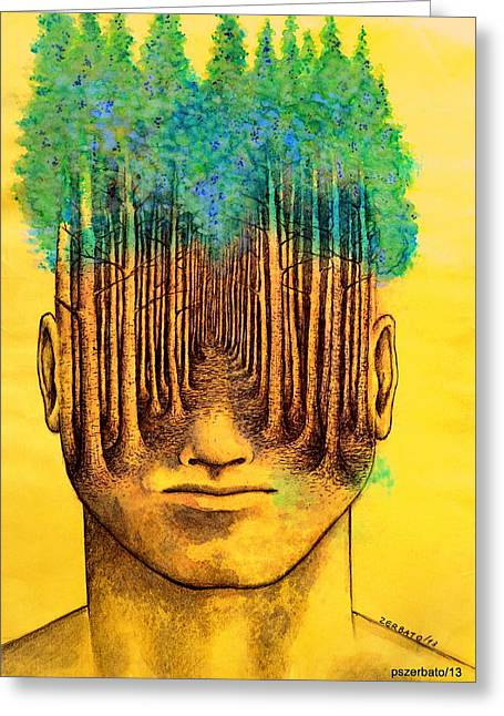Reality Imagined. Greeting Cards - Consciousness Creates Reality Greeting Card by Paulo Zerbato