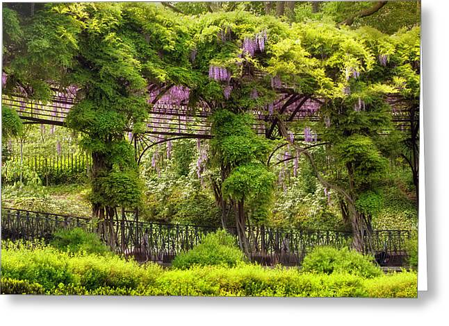 Conservatory Garden Greeting Cards - Conservatory Gardens Greeting Card by Jessica Jenney