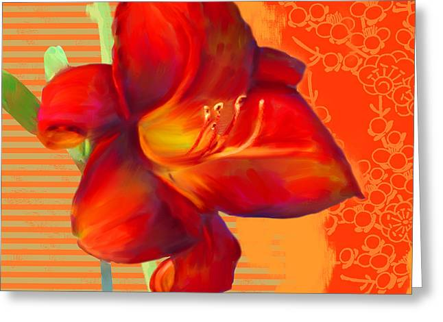 Consider The Lily Greeting Card by Valerie Drake Lesiak