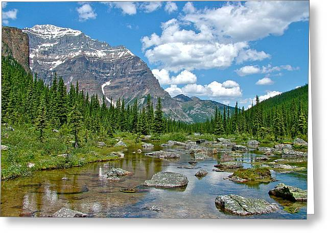 Consolation Greeting Cards - Consolation Lake in Banff NP-Alberta Greeting Card by Ruth Hager