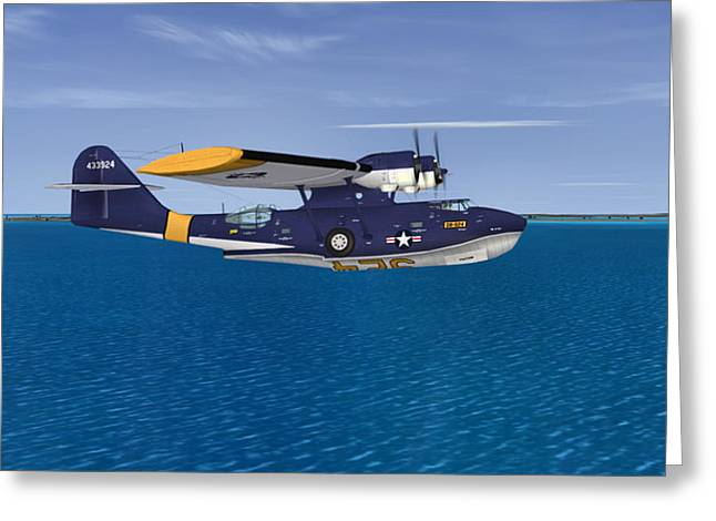 Pby Catalina Greeting Cards - Consolidated PBY-5A Catalina Greeting Card by Walter Colvin