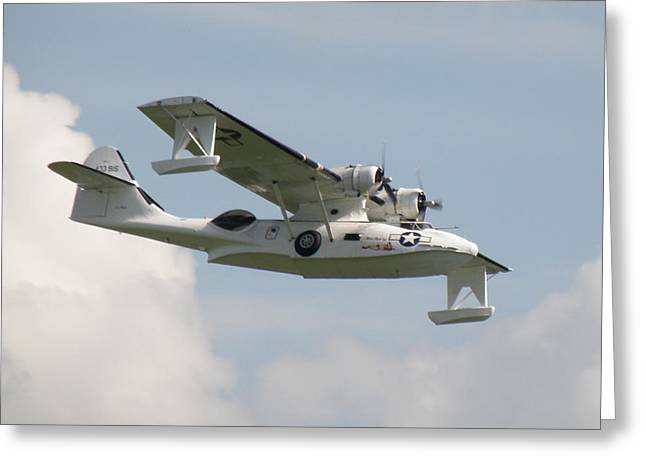 Pby Catalina Greeting Cards - Consolidated PBY Catalina Greeting Card by Ted Denyer