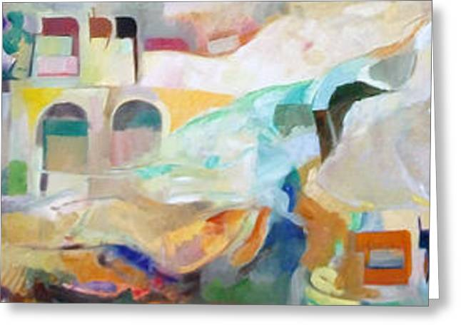 Inner Self Paintings Greeting Cards - Consoling Yaakov Avinu Greeting Card by David Baruch Wolk