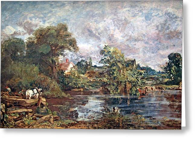 Constable; John (1776-1837) Greeting Cards - Constables The White Horse Greeting Card by Cora Wandel