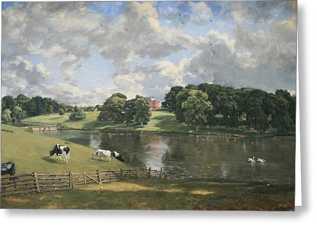 Constable Greeting Cards - Constables Wivenhoe Park In Essex Greeting Card by Cora Wandel