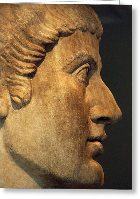 New York The Metropolitan Museum Of Art Greeting Cards - Constantine I, The Great 272-337. Roman Emperor Greeting Card by Bridgeman Images