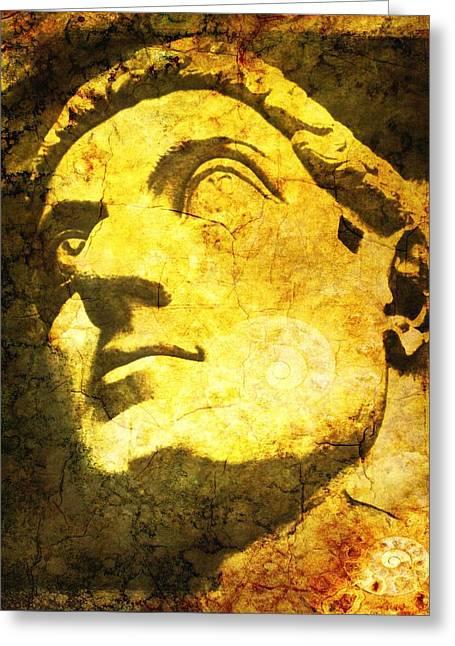 Greek Sculpture Greeting Cards - Constantine Greeting Card by Nikki Keep