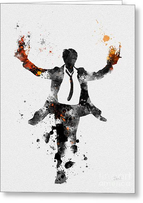 Detective Greeting Cards - Constantine Greeting Card by Rebecca Jenkins
