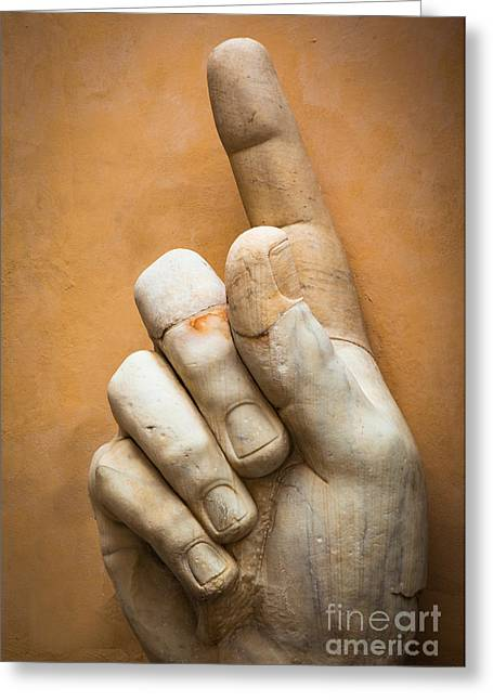 Sculptures Sculptures Greeting Cards - Constantines Finger Greeting Card by Inge Johnsson