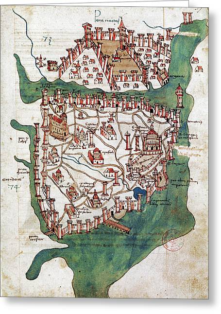 1420 Greeting Cards - Constantinople, 1420 Greeting Card by Granger