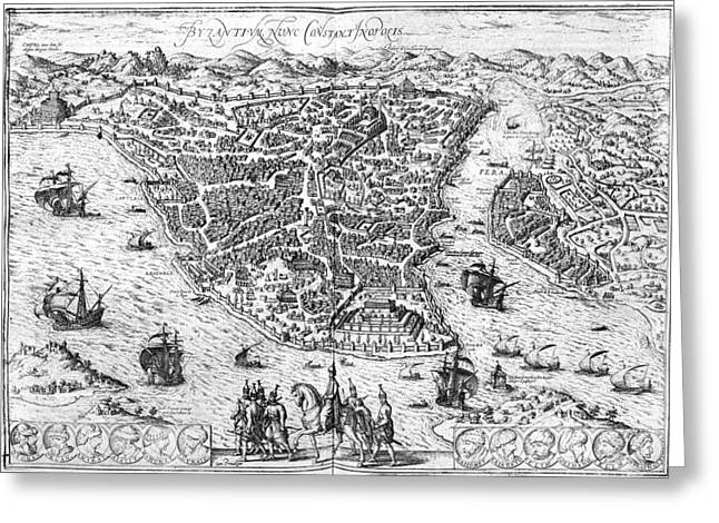1576 Greeting Cards - Constantinople, 1576 Greeting Card by Granger