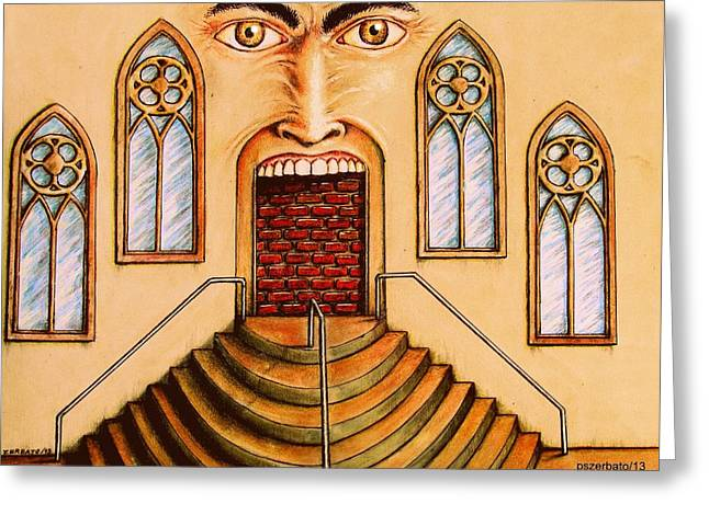 Evil And Good Digital Art Greeting Cards - Constantly Tries To Escape From The Darkness That Is Outside Or Inside Greeting Card by Paulo Zerbato