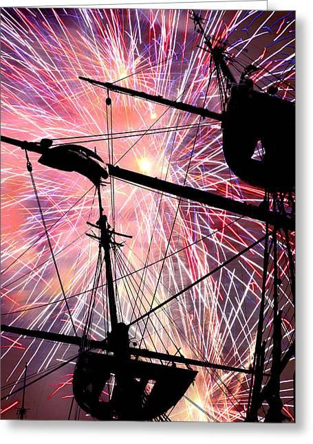 Festivities Digital Art Greeting Cards - Constellation Fourth Greeting Card by Mike Flynn
