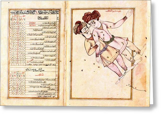Initiation Greeting Cards - Constellation Gemeaux - al-Sufi Greeting Card by Celestial Images
