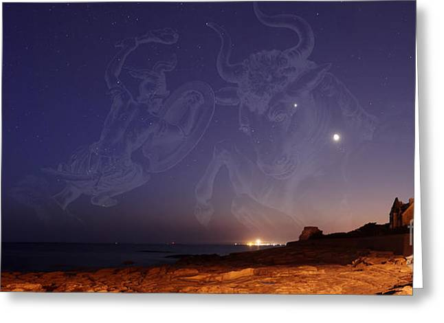 Constellations Photographs Greeting Cards - Constellations Canis Major, Taurus Greeting Card by Laurent Laveder