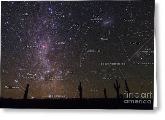Constellations Of The Southern Sky Greeting Card by Babak Tafreshi