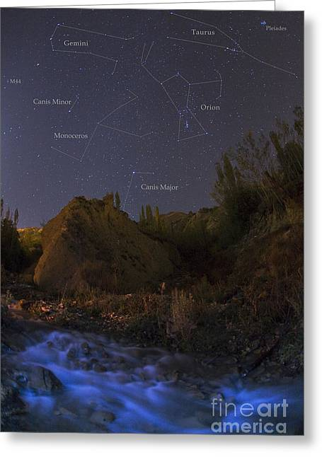 Monoceros Greeting Cards - Constellations Over Alborz Mountains Greeting Card by Babak Tafreshi