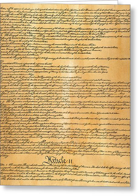 Constitutional Convention Greeting Cards - Constitution, 1787 Greeting Card by Granger