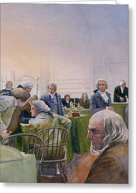 Debating Greeting Cards - Constitutional Convention Greeting Card by Rob Wood