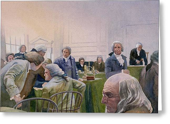 Constitutional Convention Greeting Card by Rob Wood
