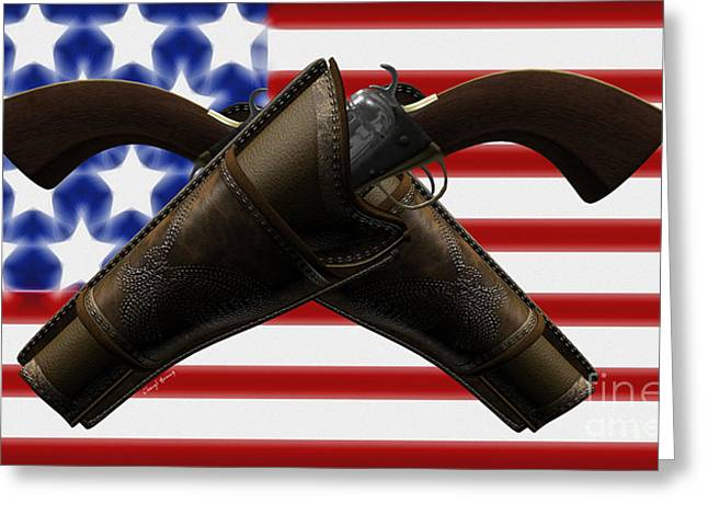 Gun Owner Greeting Cards - Constitutional Rights Greeting Card by Cheryl Young