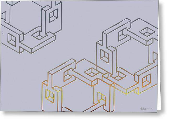 Ultra Modern Greeting Cards - Construct Number Four Greeting Card by Serge Averbukh